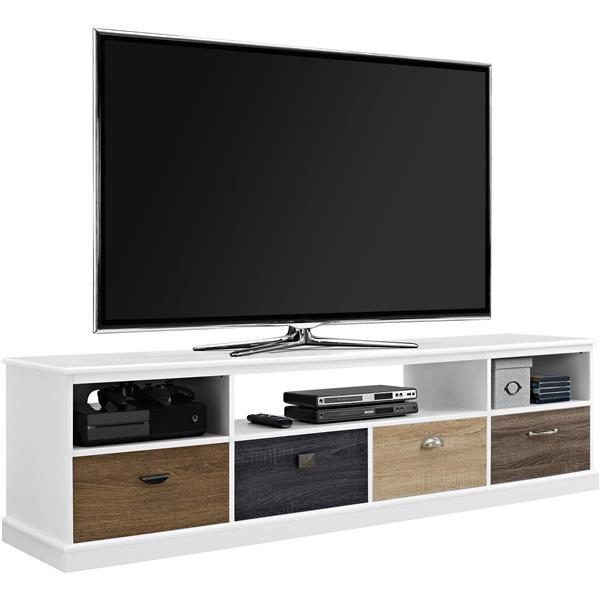 """Ameriwood Home Mercer TV Cabinet - Multicolored Fronts - TVs up to 65"""""""