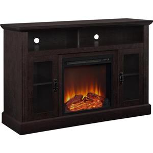 "Ameriwood Home Fireplace with TV Stand - For TVs up to a 50"" - Espresso"