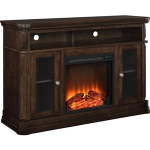 "Ameriwood Home Brooklyn TV Stand for TVs up to 50"" with Electric Fireplace"