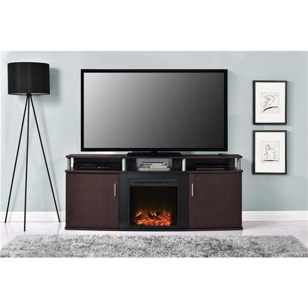 """Ameriwood Home Carson Tv Stand with Electric Fireplace for TVs up to 70"""""""