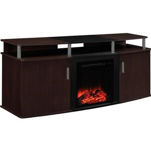 Ameriwood Home Carson Tv Stand with Electric Fireplace for TVs up to 70""