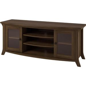 "Ameriwood Home Oakridge TV Stand with Glass Doors for TVs up to 60"" - Brown"