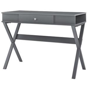 Bureau de travail Paxton avec tiroir, gris graphite.