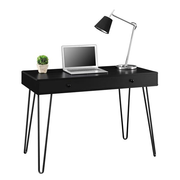 Ameriwood Home Owen Retro Desk with Drawer - Black