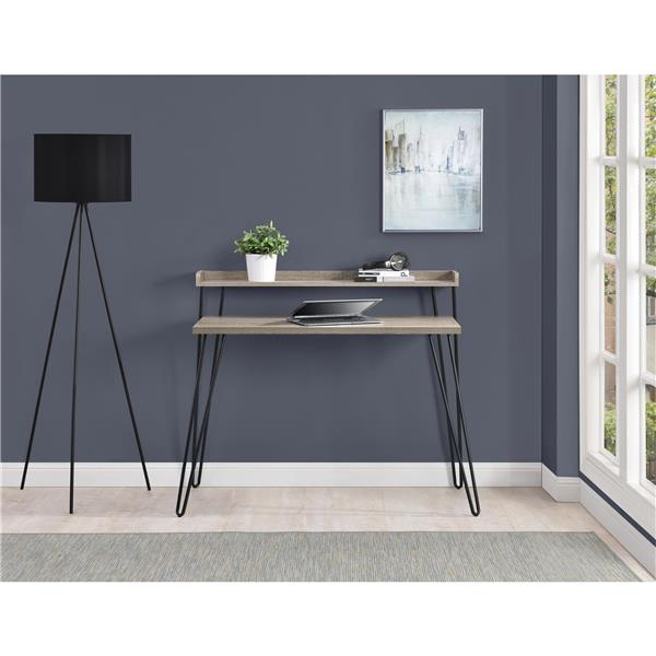 Ameriwood Home Haven Retro Desk with Riser - Gray