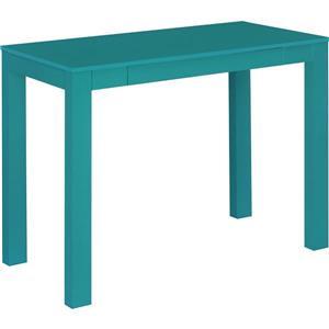 Bureau de travail Parsons avec tiroir, bleu sarcelle