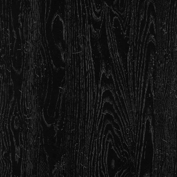 Bureau de travail en L avec étagères Dakota, chêne noir