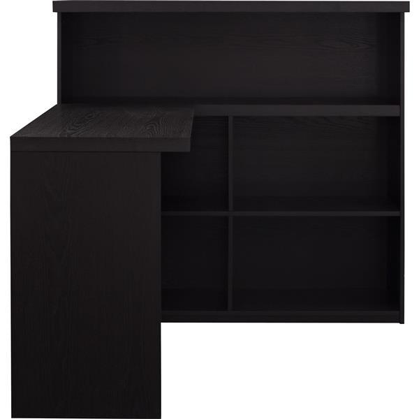 Ameriwood Home Trilium Way Sit/Stand L-Shaped Desk - Espresso