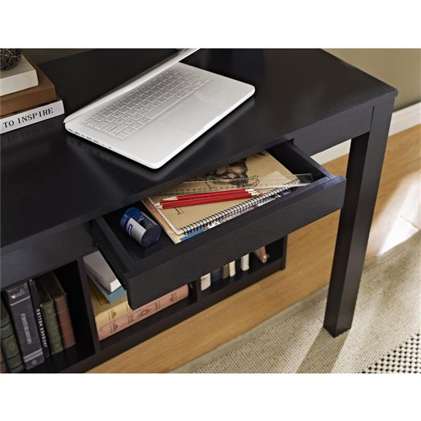 Ameriwood Home Parsons Desk with Cubbies - Black
