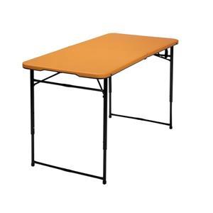 Cosco Adjustable Folding Table - Indoor/Outdoor - Orange