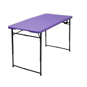 Cosco Adjustable Folding Table - Indoor/Outdoor - Purple