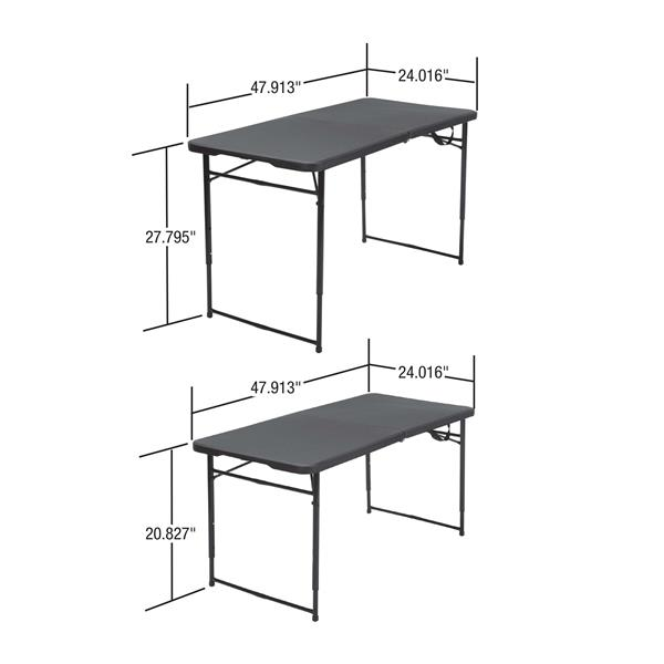 Cosco Adjustable Folding Table - Indoor/Outdoor - Red