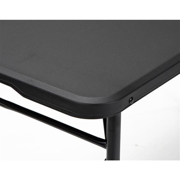 Cosco Adjustable Folding Table - Indoor/Outdoor - Black