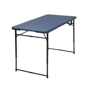 Cosco Adjustable Folding Table - Indoor/Outdoor - Dark Blue