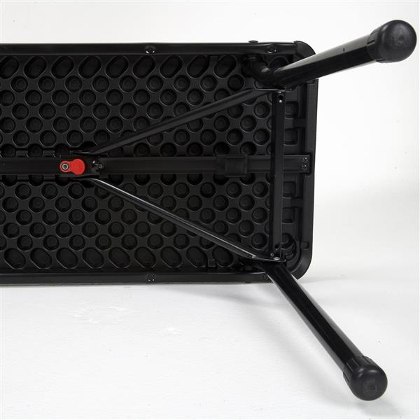 "Cosco Portable Folding Bench - 73"" - Plastic - Purple"