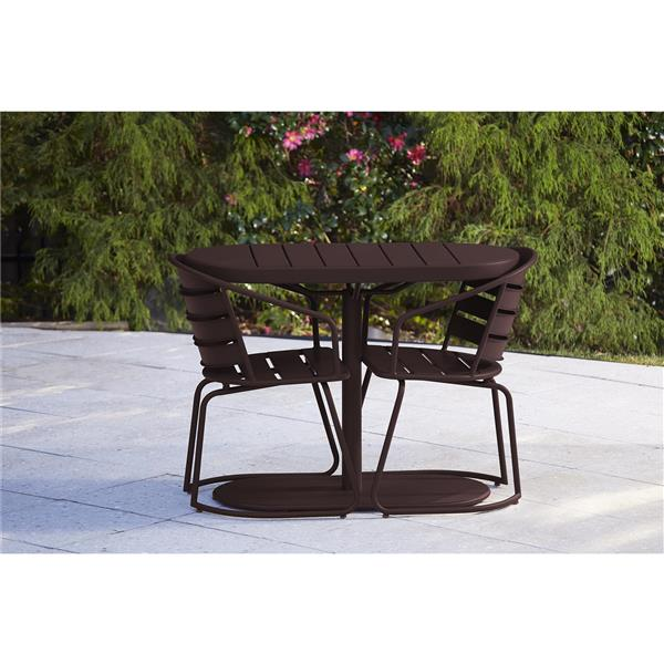 Cosco 3-Piece Bistro Set - Table and 2 Chairs - Metro Brown