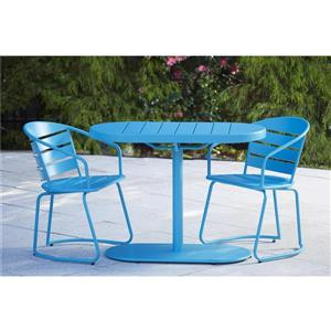Cosco 3-Piece Bistro Set - Table and 2 Chairs - Turquoise
