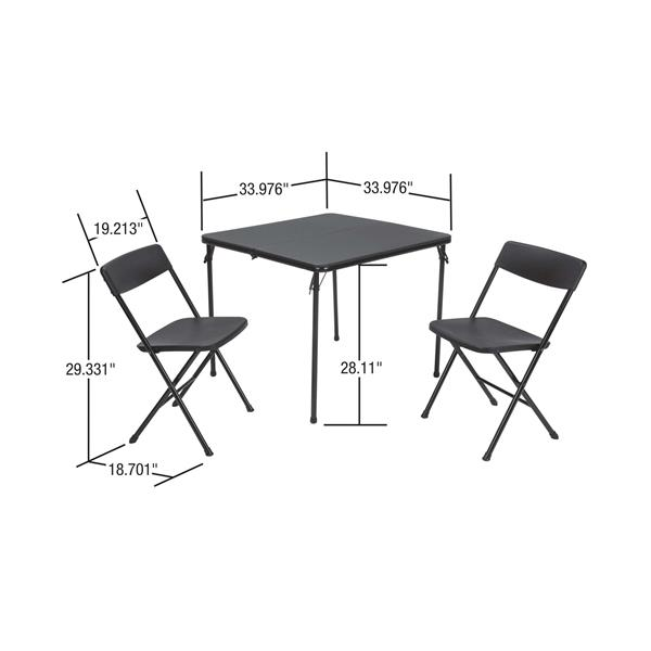 Cosco 3-Piece Set Folding Table and 2 Chairs - Red