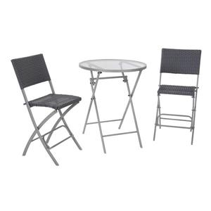 Cosco 3-Piece Set Folding Table and 2 Chairs - Gray