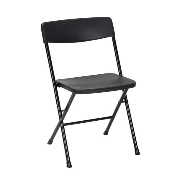 Cosco 3-Piece Set Folding Table and 2 Chairs - Black