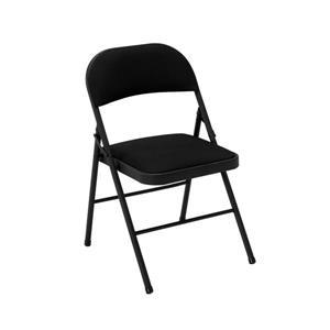 Ensemble de 4 chaises pliantes Cosco, tissu noir