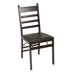 Ensemble de 2 chaise pliantes en bois Cosco, espresso