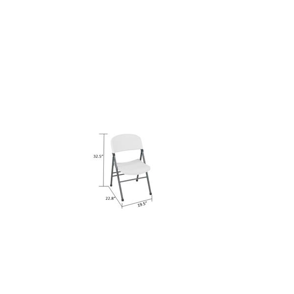 Cosco Resin Folding Chair - White - Set of 4