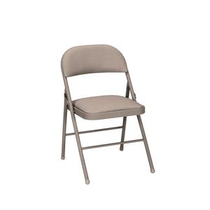 Ensemble de 4 chaises pliantes en tissus, beige