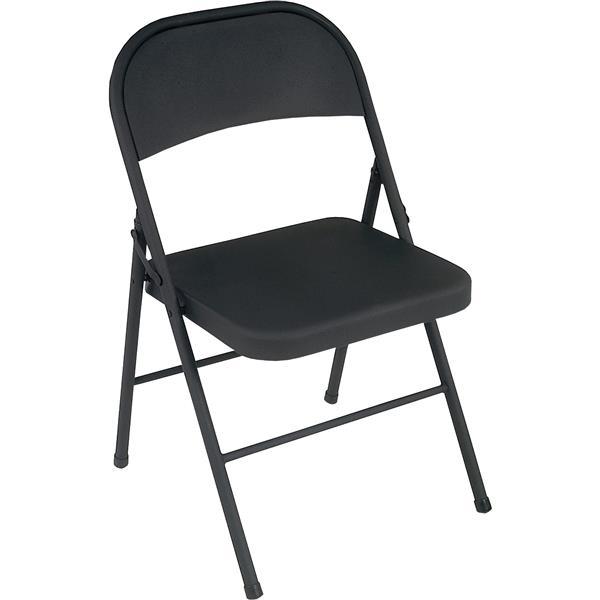 Cosco Steel Folding Chair - Black - Set of 4