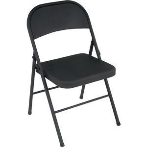 Ensemble de 4 chaises pliantes en acier, noir