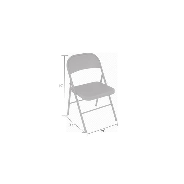 Cosco Steel Folding Chair - Beige - Set of 4