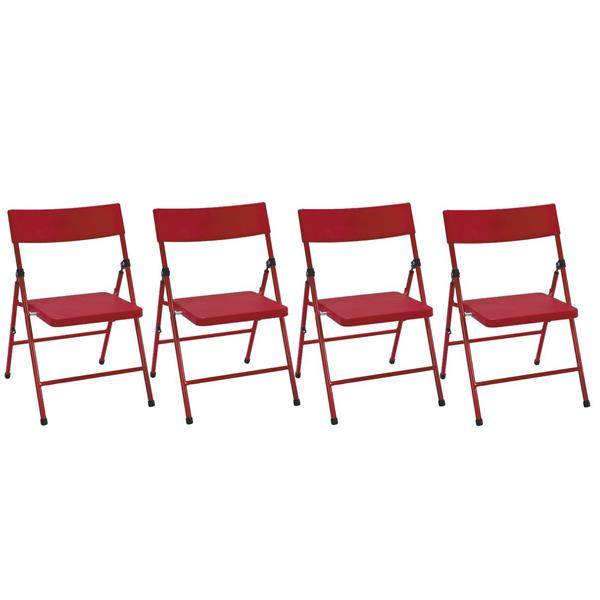 Cosco Kids Folding Chair Red Plastic Set Of 4