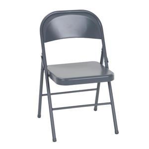 Ensemble de 4 chaises pliantes en acier, gris