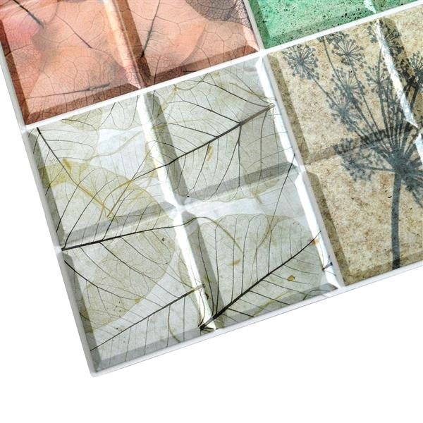 Dundee Deco PVC 3D Wall Panel - Abstract Floral Pattern in Squares