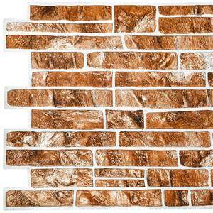 PVC 3D Wall Panel - Light Brown Faux Slate - 3.4' x 1.6'