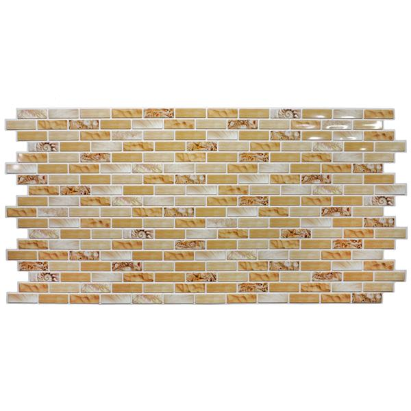 Dundee Deco PVC 3D Wall Panel - Yellow Bricks Seashells