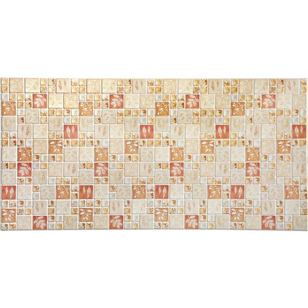 Dundee Deco Wall Panel - Green and Red Squares Autumn Leaves