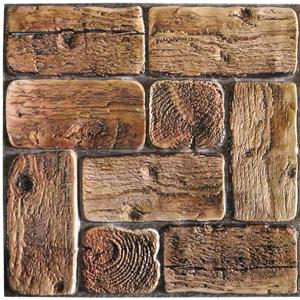 Dundee Deco PVC 3D Wall Panel - Brown Faux Logs - 3.2' x 1.6'