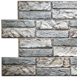 Dundee Deco PVC 3D Wall Panel - Light Beige Old Brick - 3.1' x 1.6'