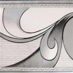 Dundee Deco Wallpaper Border - Abstract Grey Scrolls