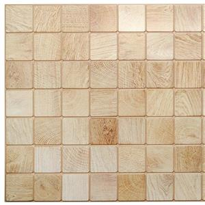 Dundee Deco PVC 3D Wall Panel - Off White Faux Timber - 3.1' x 1.6'