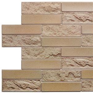 3D Wall Panel Mustard Yellow Faux Brick - 3.2' x 1.6'