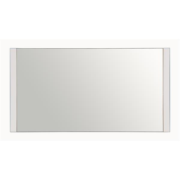 Meuble-lavabo Willow avec miroir, quartz, 60po blanc