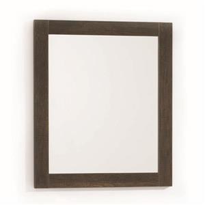 """Miroirs rectangulaires encadrés Massa, 2 pqt, 24"""", brun"""