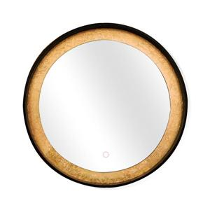 "Dyconn Faucet Apollo Round Framed LED Mirror - 32"" - Gold"