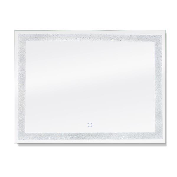 "Dyconn Faucet Edison Crystal Rectangular LED Mirror - 48"" x 36"""