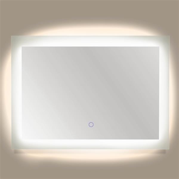 "Dyconn Faucet Royal Rectangular LED Bathroom Mirror - 48""x 36"""
