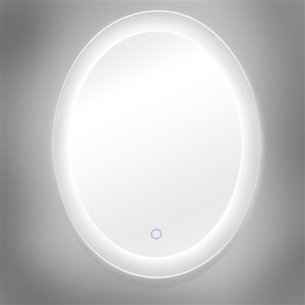 """Dyconn Faucet Royal Oval LED Bathroom Mirror - 25"""" x 35"""""""