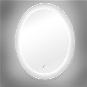 """Miroir en ovale avec éclairage à DEL Royal, 25"""" x 35"""""""