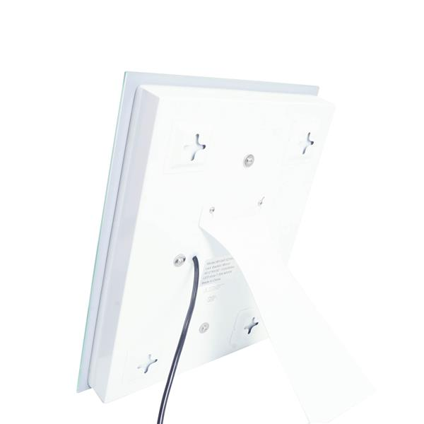 """Miroir rectangulaire avec éclairage à DEL Edison, 12"""" x 16"""""""